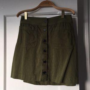 Madewell mini skirt in forest green